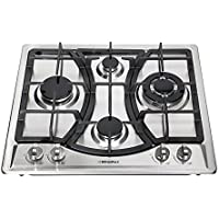 Windmax 23 Curve Stainless Steel 4 Burner Stove NG/LPG Hob Cooktops Cooker