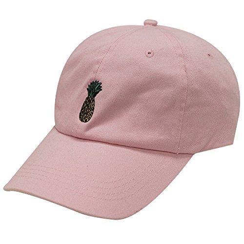 62900e26708 City Hunter C104 Pineapple Cotton Baseball Cap Multi Colors (Pink)