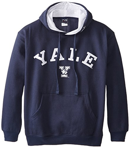 NCAA Men's Yale Bulldogs Hooded Sweatshirt (Navy, X-Large) - Mens Navy Blue Bull