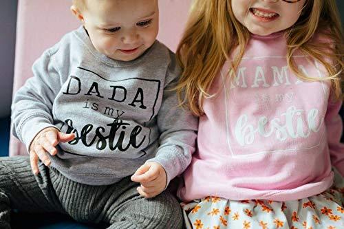 Felpa T-Shirt Bambino Bambina Unisex Maglia in Cotone Girocollo a Maniche Lunghe con Stampa di Lettere Casual Carino 0-3… 6