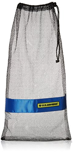 (U.S. Divers Mesh Bag, Black, Large)