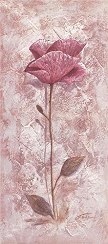 Oil Painting 'a Pink Flower', 18 x 41 inch / 46 x 103 cm , on High Definition HD canvas prints is for Gifts And Gym, Kids Room And Powder Room Decoration, (Alphabet Wastebasket)