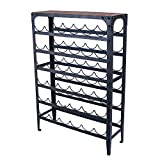 Joveco 36 Bottle Metal Wine Rack, Unique Retro Vintage Antique Style