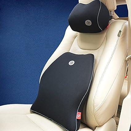 jackdodo de espuma de memoria soporte Lumbar cojín + almohada cervical, cojín para la espalda