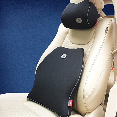 jackdodo de espuma de memoria soporte Lumbar cojín + almohada cervical, cojín para la espalda, coche almohada - alivia dolor de prevenir el dolor de espalda ...