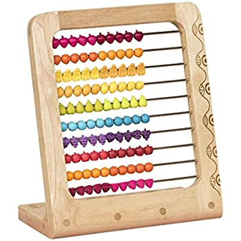 Wooden Abacus Beads Counting Number Preschool Kid Learns Math Education Toy 6L