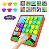 Geekper Button Art Color Matching Mosaic Pegboard Set Early Learning Educational Toys Kids Thanksgiving Christmas Birthday Party Gift