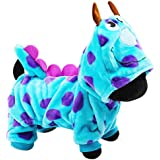 iBaste Small Dog's Soft Fleece Hoodie Clothes with Pants Small Dog Jacket Coat Casual Indoor