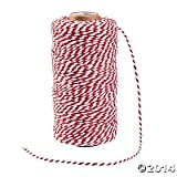 Red and White Baker's Twine - 328 ft