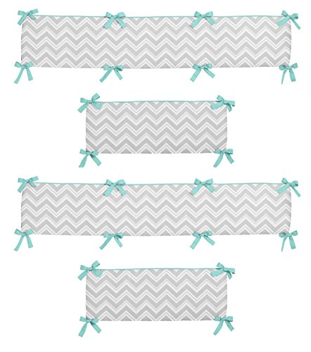 Gray-and-Turquoise-Blue-Zig-Zag-Collection-Crib-Bumper-by-Sweet-Jojo-Designs