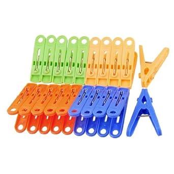 eDealMax antideslizantes Grips Clothespins de ropa Clips Clavijas 20 piezas de Colores surtidos
