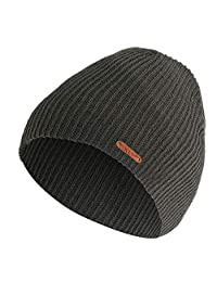 Vinjeely Men Women Solid Hat Crochet Winter Wool Knit Beanie Skull Slouchy Caps