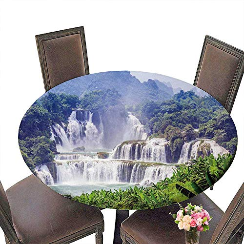 PINAFORE Circular Table Cover Detian Waterfall for, used for sale  Delivered anywhere in Canada