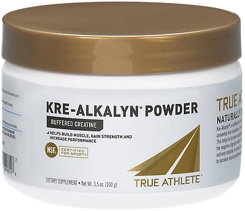 True Athlete Kre Alkalyn Helps Build Muscle, Gain Strength Increase Performance, Buffered Creatine NSF Certified for Sport 3.5 Ounces Powder