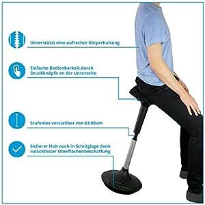 Ergotopia ® Ergonomischer Bürohocker - Höhenverstellbarer..