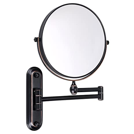 Beautiful Sumnacon 8 Inch Double Sided Swivel Wall Mount Vanity Mirror, 10x  Magnification 360°