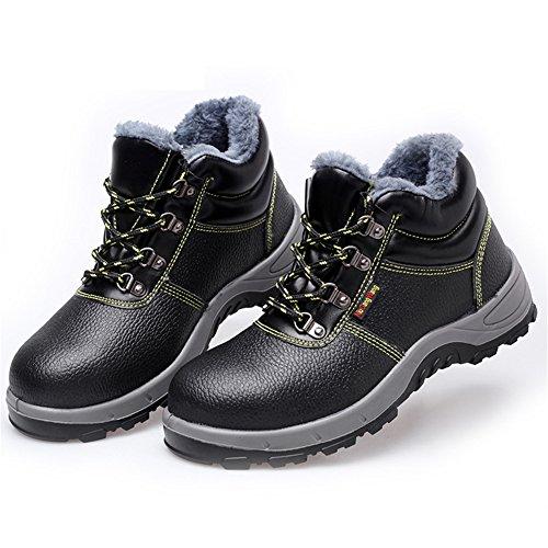 Doublure Securite Homme Chaussures Acier Hiver Bottes Travail Bout Aqgng1R