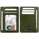 Lethnic Slim Wallet RFID Front Pocket Minimalist Wallet With ID Window - Genuine Leather