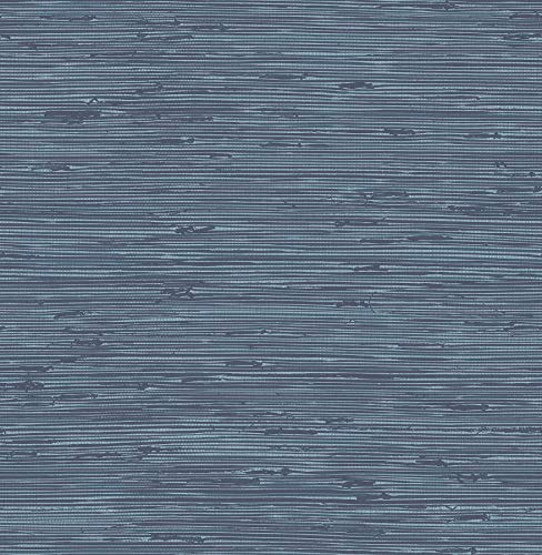 InHome NHS3206 Sisal Midnight Peel & Stick Peel and Stick Wallpaper, Blue