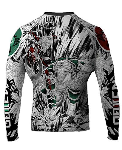 Raven Fightwear Men's Monkey King vs Bull King MMA BJJ Rash Guard White Small rash guard mens bjj 13