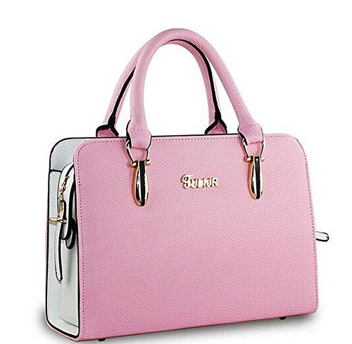Flying Birds! Women Pu Leather Handbags Women Shoulder Bag Messenger Bags iLS3626 (Pink)