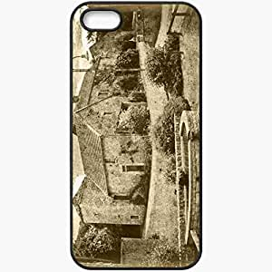 Protective Case Back Cover For iPhone 5 5S Case Black And White Old House Black wangjiang maoyi