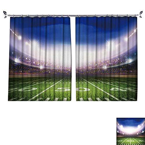 2 Panels Curtain with Hook Ameri Stadium Can Block Sunlight,W63 xL63 ()