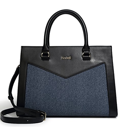 Kadell New Women Handbags PU Leather Shoulder Totes Purse Messenger Bags With Removable Strape Black by Kadell