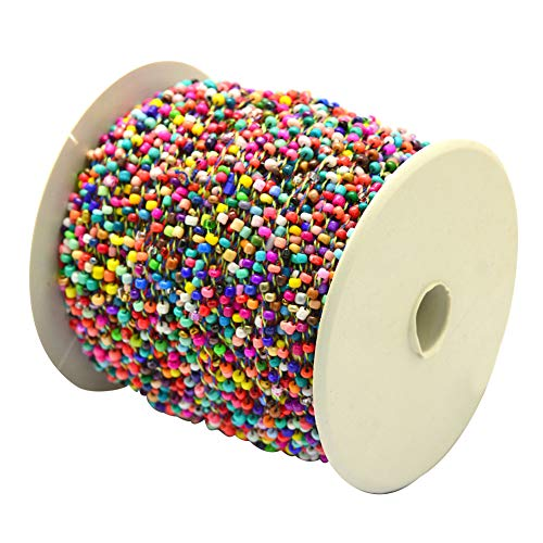 PH PandaHall 100yards 2mm Opaque Seed Beads Cords Colorful Polyester Cords Spools for Necklaces Bracelets Findings Jewelry Making
