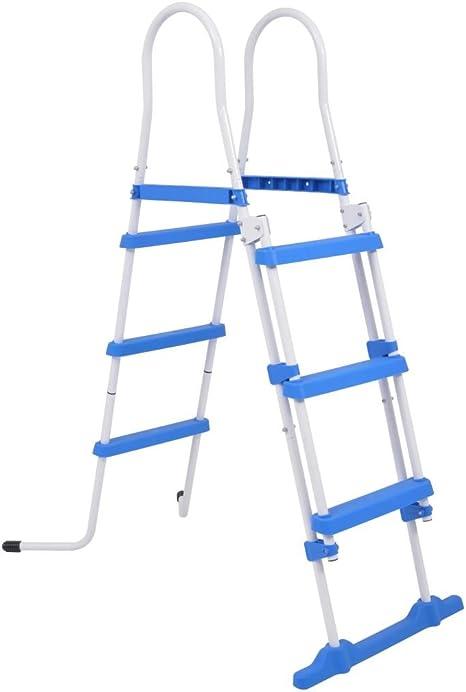 Tidyard Escalera de Seguridad de Piscina elevada 3 peldaños 107 cm: Amazon.es: Hogar
