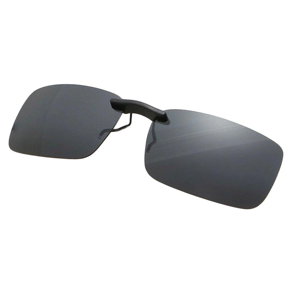BEESCLOVER UV400 Polarized Sunglasses Clip-on Flip-up Sun Lenses Unisex Day/&Night Driving Glasses