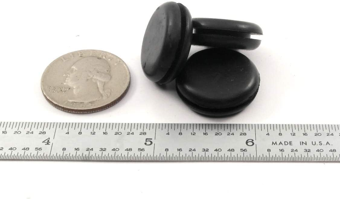 Rubber Hole Plug for 5//8 Opening 3 Pack Grommet Without Hole