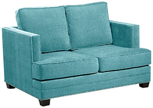 Loni M. Designs Madison Love Seat, Teal