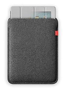 Freiwild Sleeve 9+ grau-meliert (anthrazit) für iPad 2, 3 und 4 + Original Apple Smart Cover. Filz, Schutzhülle, Tasche, Case