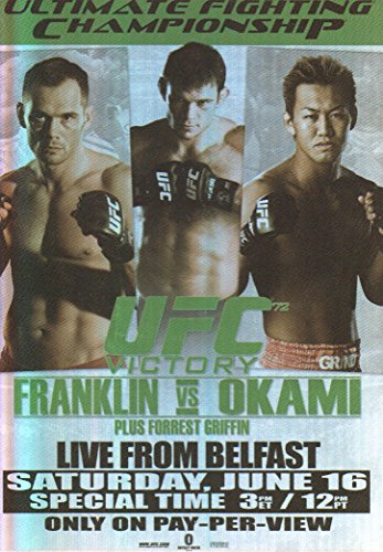 2010 Topps UFC Fight Poster Trading Card #FPR-UFC72 for sale  Delivered anywhere in USA