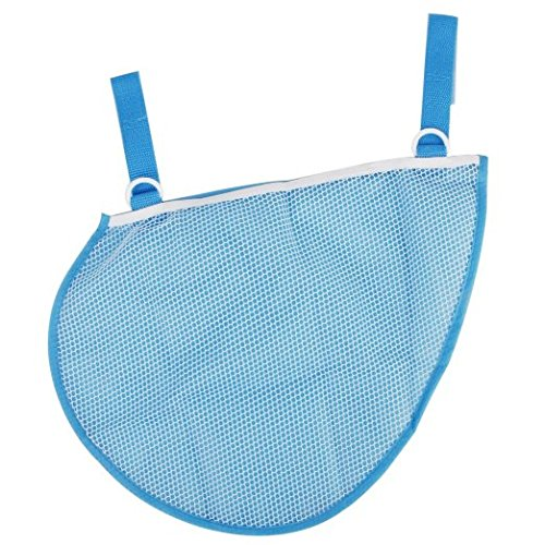 Cindy&Will 1Pcs Waterproof Screen Cloth Baby/Infant/Kids Stroller/Pushchair/Pram Mesh Side Hanging Bag Toy/Diaper/Wipe Holder/Storage Organizer----Saving Space, Blue