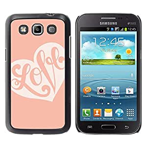 Exotic-Star ( Calligraphy Valentines Heart Pink Peach ) Fundas Cover Cubre Hard Case Cover para Samsung Galaxy Win / I8550 / I8552 / Grand Quattro