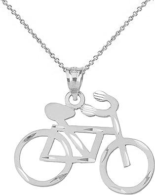 Collar con colgante de bicicleta de carretera: Claddagh Gold ...