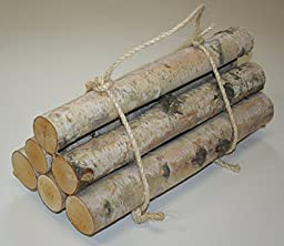 Roped Bundle of Birch Logs (Medium- set of 6 (1.5\