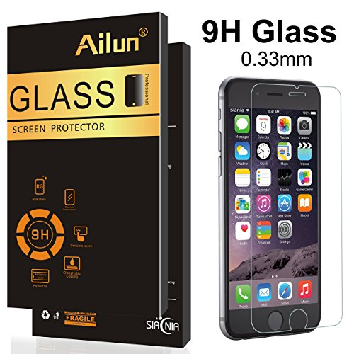 AILUN with 6 6s Glass,Anti-Scratch,Case Retail Package