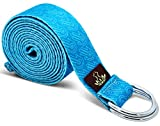 Heathyoga Yoga Strap Made from Durable Cotton with Adjustable D-Ring, Improve Flexibility & Strength for Yoga Stretching Fitness and Physical Therapy Length 8ft For Sale