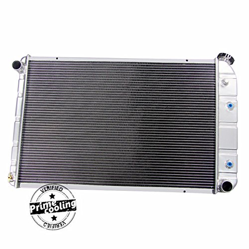 Primecooling 56MM 3 Row Core Aluminum Radiator for GMC Chevrolet C/K Series Pickup Trucks, Multiple V8 Models 1973-1991