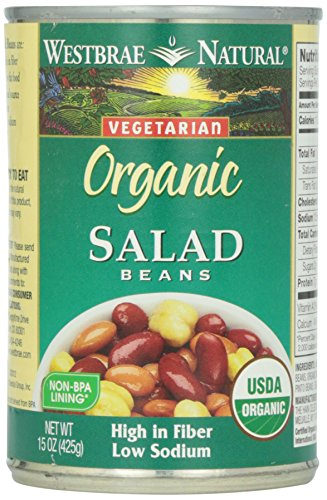 Westbrae Natural, Vegetarian Organic, Salad Beans, 15 oz