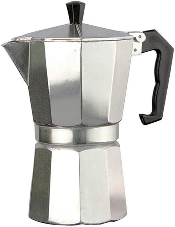 Cafetera de aluminio Mocha Cafetera para estufa Espresso 2-12 ...