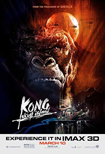 Kong: Skull Island Movie Poster Tom Hiddleston, Brie Larson, C, Made In The U.S.A