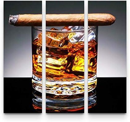 Startonight Canvas Wall Art Whiskey and Cigar