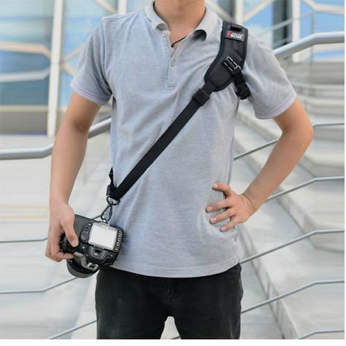 Fomito Focus F-1 Camera Strap Quick Rapid Shoulder Sling Belt Neck Strap & 3pcs Screw Mount for Camera DSLR SLR DV Black(for Canon Nikon Sony Olympus Pentax DSLR)