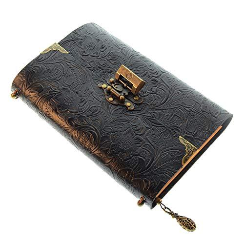 XRROOK Cuaderno Notebook Cuadernos Libreta Mano Escrito De Dibujo Rayas Pack Retro Vintage Cubierta Diario Notas Viaje...