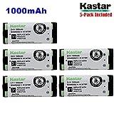 Kastar HHR-P105 Battery (5-Pack), Type 31, NI-MH Rechargeable Cordless Telephone Battery 2.4V 1000mAh, Replacement for Panasonic HHRP105 HHR-P105 HHRP105A HHR-P105A KX242 KX-242 KX2420 KX-2420 KX2421 KX-2421 KX2422 KX-2422 KXTG5779 KX-TG5779 Dantona BATT1
