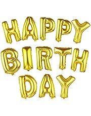 16 بوصة لطيف الذهب الأبجدية رسائل بالونات عيد ميلاد سعيد الطرف الديكور الألومنيوم احباط غشاء البالون